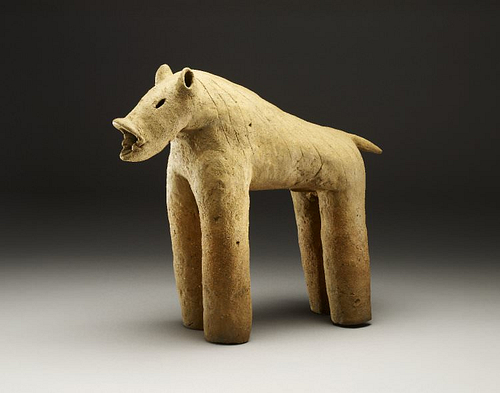 Wild Boar Haniwa (by The Trustees of the British Musem, Copyright)