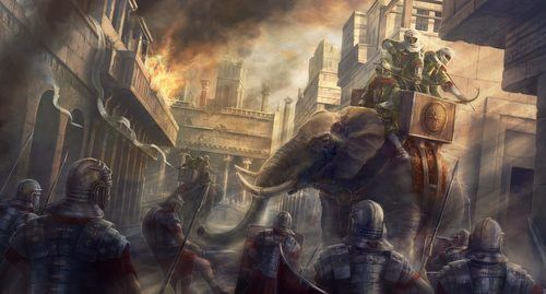 Carthaginian War Elephant (by The Creative Assembly, Copyright)
