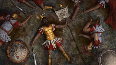 Fallen Greek Hoplite (by The Creative Assembly, Copyright)