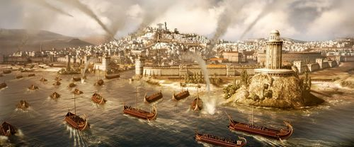Roman Naval Attack on Carthage (by The Creative Assembly)