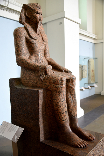 Statue of King Sobekemsaf I or II (by Osama Shukir Muhammed Amin)