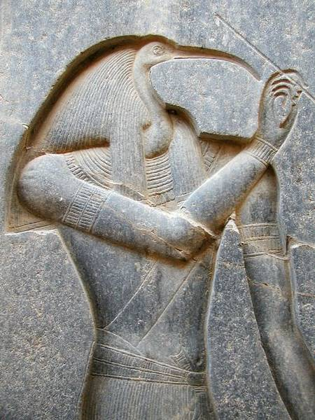 Thoth, Luxor Relief (by Jon bodsworth, Copyright, fair use)