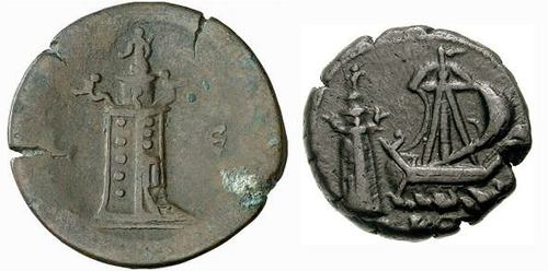 Alexandrian Coins Depicting the Lighthouse of Alexandria