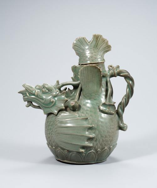 Celadon Fish-Dragon Ewer, Goryeo Dynasty