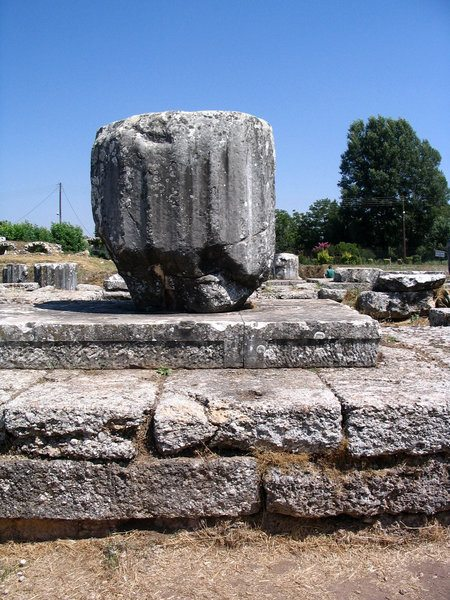 Ruins of the Temple of Athena, Tegea (by Dan Diffendale, CC BY-NC-SA)
