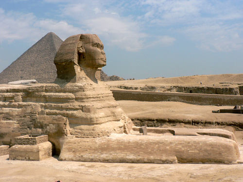 Great Sphinx, Giza (by eviljohnius, CC BY)
