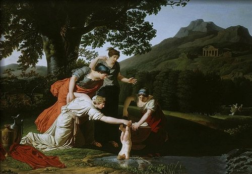 Thetis Dipping Achilles into the River Styx