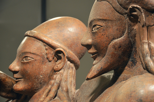 Etruscan Sarcophagus of the Spouses (detail) (by Carole Raddato)