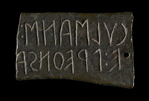 Etruscan Inscription Plaque