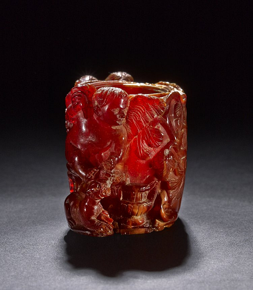Roman Amber Perfume-pot (by The British Museum, Copyright)