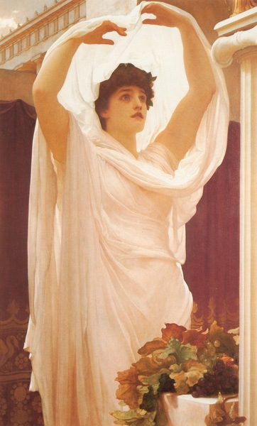 Priestess of Vesta (by Frederic Leighton, Public Domain)