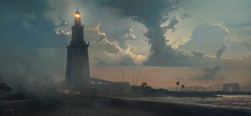 Lighthouse of Alexandria [Artist's Impression] (by Ubisoft Entertainment SA, Copyright, fair use)