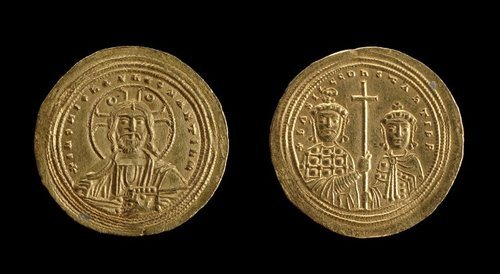 Nomisma Coin of Basil II (by The British Museum, Copyright)