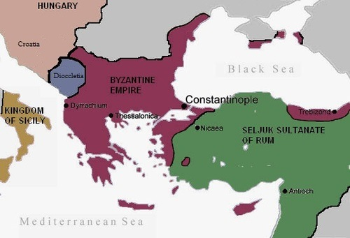 The Byzantine Empire c. 1090 CE