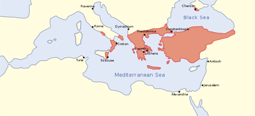 The Byzantine Empire in the mid-9th century CE