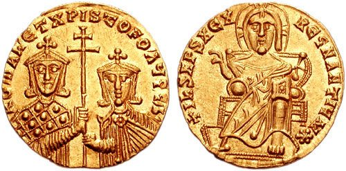 Gold Coin of Romanos I (by Classical Numismatic Group, Inc., CC BY-SA)