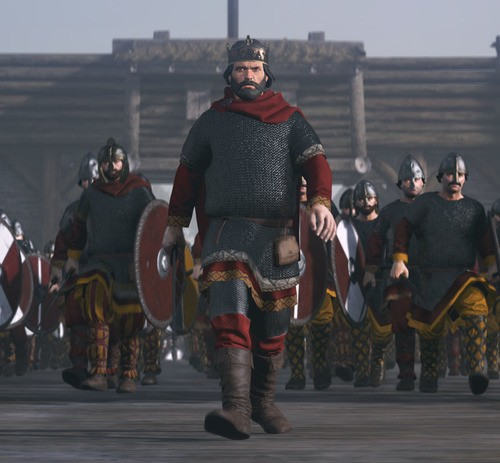 Artist's Impression of Alfred the Great (by The Creative Assembly, Copyright)