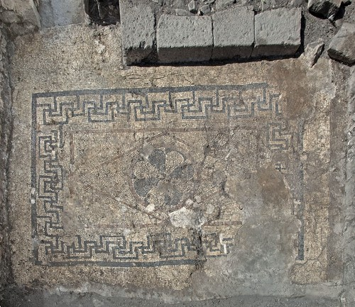 Mosaic floor in Magdala