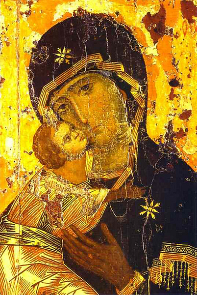 The Vladimir Icon (by Unknown Artist, Public Domain)