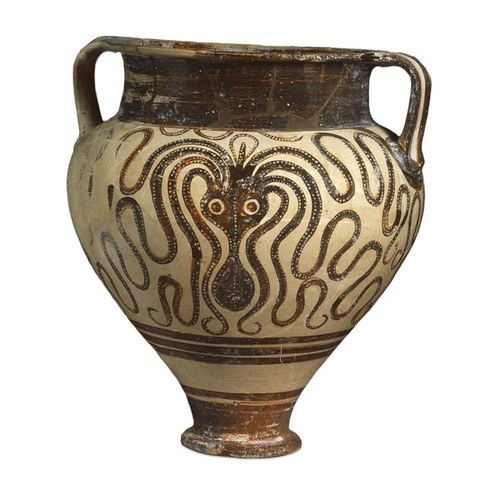 Mycenaean Vase Decorated With An Octopus