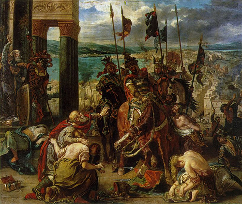 The Entry of the Crusaders into Constantinople (by Eugene Delacroix, Public Domain)