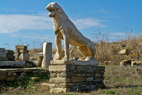 Delos Lion Sculpture (by SquinchPix.com, Copyright)