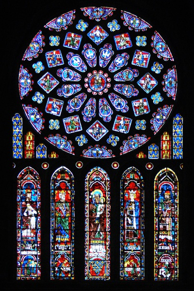 North Rose Window, Chartres Cathedral