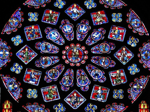 Detail, North Rose Window, Chartres
