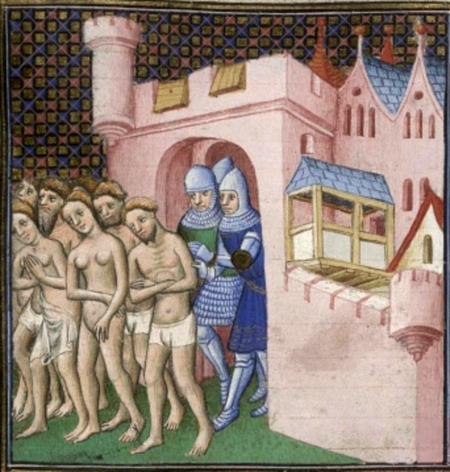 Expulsion of the Cathars from Carcassonne (by Unknown Artist, Public Domain)
