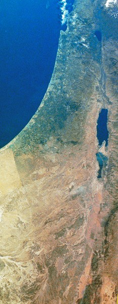 Satellite Image of Canaan-Palestine-Israel (by NASA)