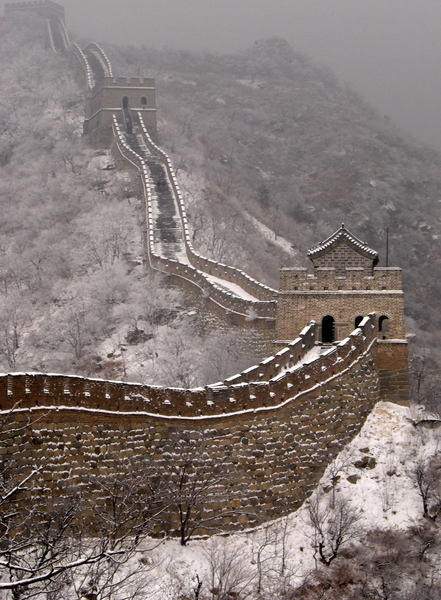 The Great Wall of China in Snow (by Steve Webel)