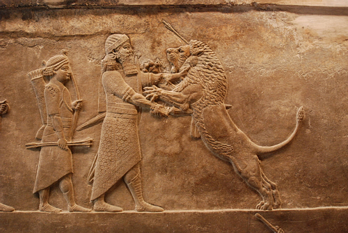 Assyrian Lion Hunt Relief (by Jan van der Crabben (Photographer))