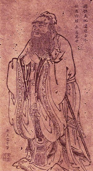 Confucius by Wu Daozi (by Louis Le Grand, CC BY-SA)