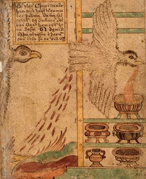 Odin as an Eagle which Creates Mead