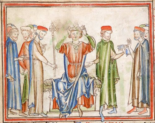 Coronation of Harold Godwinson (by Unknown Artist)