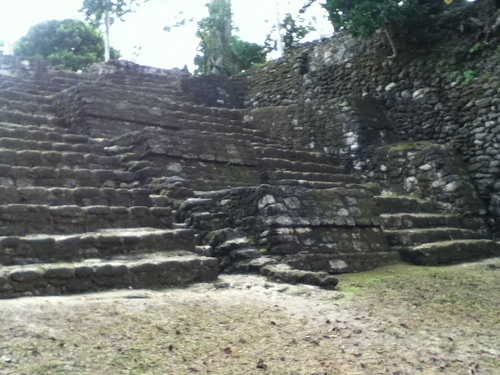Stairs of the Gran Basamento at Chacchoben
