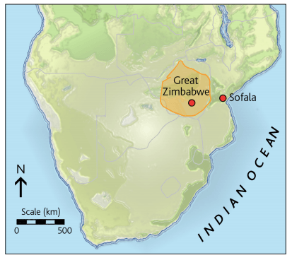 Map of the Kingdom of Zimbabwe