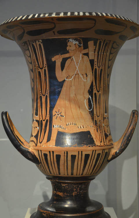Etruscan Red-Figure Krater with Charun