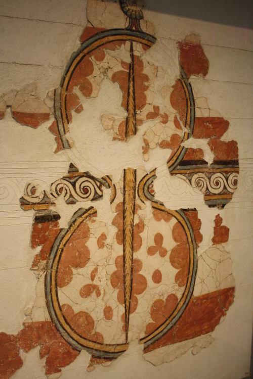 Mycenaean Shield Fresco
