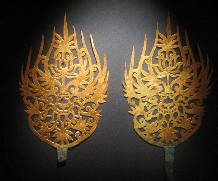 Baekje Gold Crown Ornaments