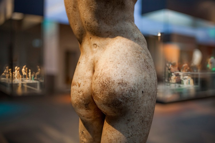Ancient Posterior from the 'Naked! The Art of Nudity' Antikenmuseum Exhibition