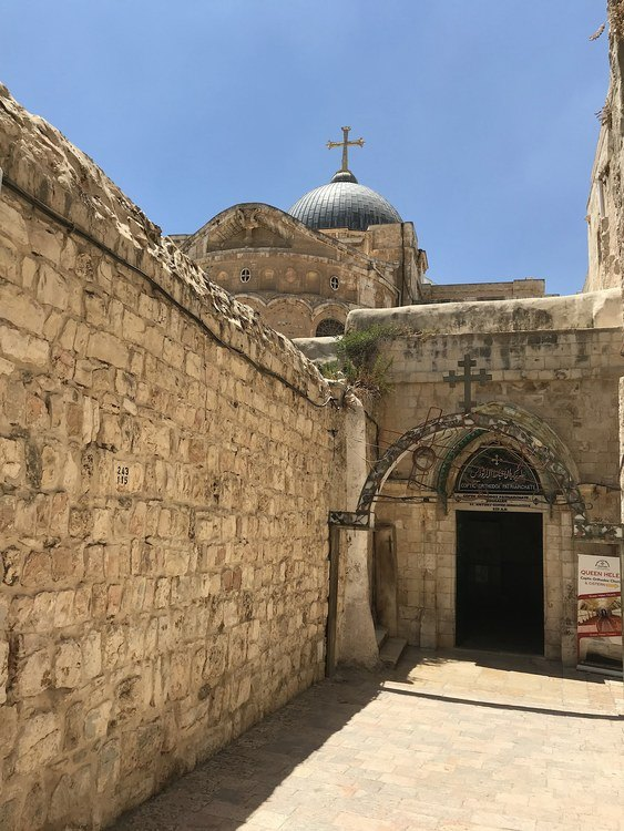 Ancient Walls Surrounding Church of the Holy Sepulchre